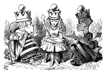 Alice in Wonderland - John Tenniel engraving