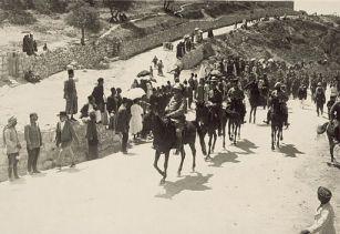 Austrian artillery commander entering Jerusalem, 1916