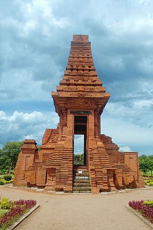 Bajang Ratu gate, East Java, Indonesia. The el...