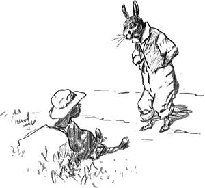 Br'er Rabbit and the Tar-Baby, drawing by E.W....