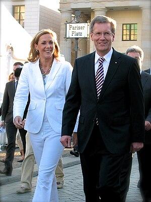 Deutsch: Der Bundespräsident Christian Wulff u...
