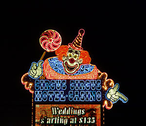 Circus Circus, hotel and casino located on Las...