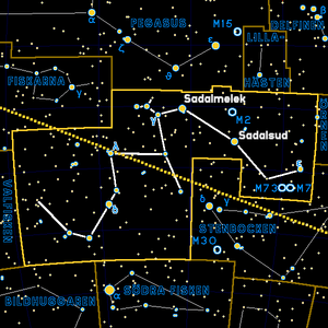 Aquarius constellation -- Colored and translat...