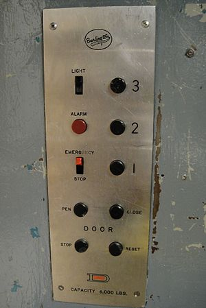 English: This is the controls on a dover elevator