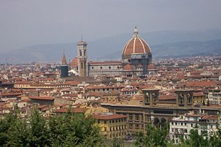 Looking down at Florence