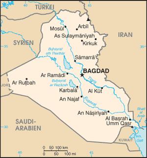 Irak uebersichtskarte