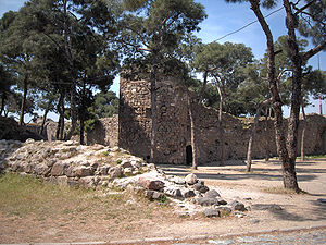 Wall of the castle built by Lysimachos about 3...