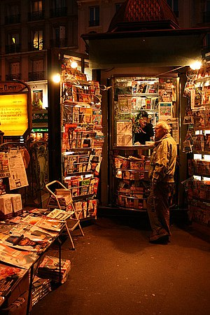 Newsstand in Paris