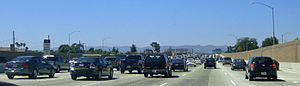 English: Traffic congestion at Freeway 405, ne...