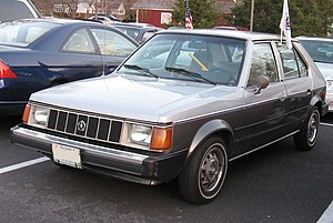 Plymouth Horizon photographed in USA. Category...