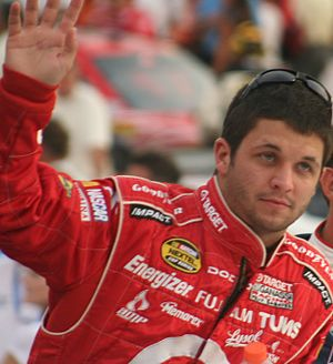 NASCAR driver Reed Sorenson in August 2007 at ...