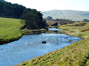 English: River Clyde Near Crawford