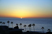 Sunset at La Jolla Cove in San Diego