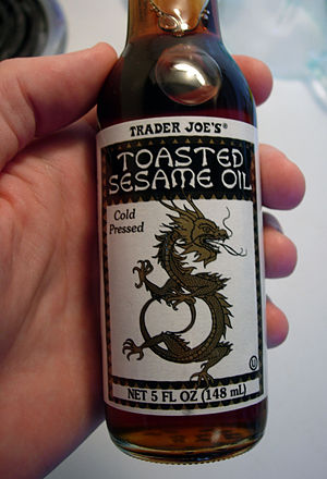A picture of sesame oil.
