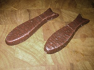 Two New Zealand chocolate fish.