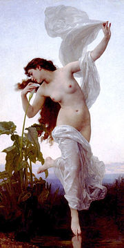 Eos depicted in a painting entitled Dawn by William-Adolphe Bouguereau in 1881.