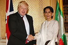Foreign Secretary Boris Johnson meeting Suu Kyi in London, 12 September 2016
