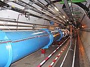 Parte del túnel del LHC situada debajo del LHC P8, cerca del LHCb.