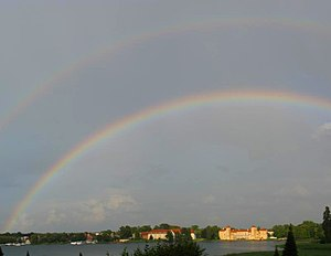English: Double rainbow