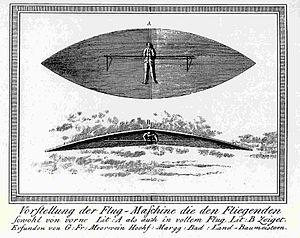 Flying apparatus of Carl Friedrich Meerwein.