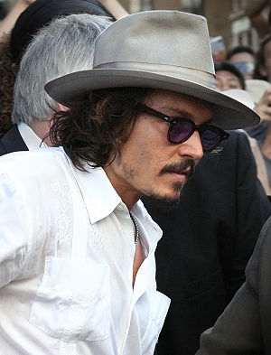 Johnny Depp at the Pirates of the Caribbean: D...