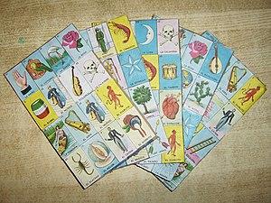 Tablas de Lotería (Lotería boards).