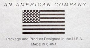 AMERICAN COMPANY! DESIGNED IN USA! made in chi...