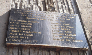 English: Plaque commemorating the victims of t...