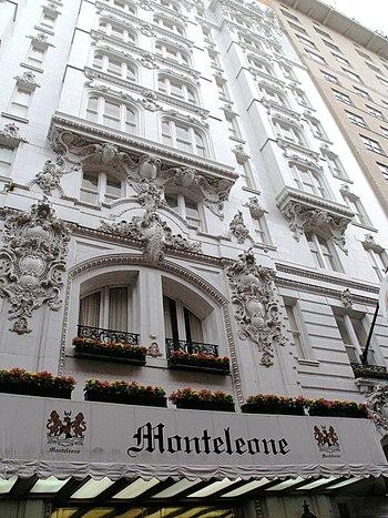 Hotel Monteleone, New Orleans. Exterior fascad...