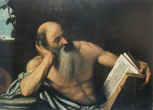 San Girolamo in meditazione (Moretto)