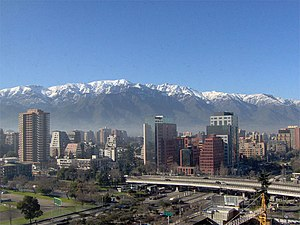 English: Photo from the modern Santiago de Chi...