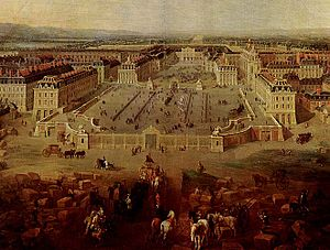 The Palace of Versailles in 1722 Français : Le...