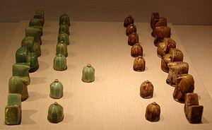 Chess Set (Shatranj in Iranian), glazed fritwa...