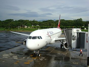 English: Plane of Taca Airlines. Español: Avió...