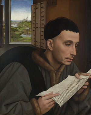St Ivo by Roger van der Weyden. Oil on oak pan...