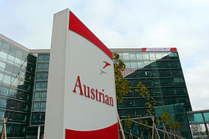 Headquarters of Austrian Airlines on the groun...