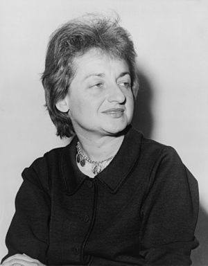 Betty Friedan, American feminist and writer.