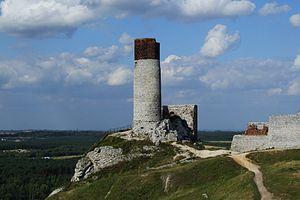 English: Castle in Olsztyn, Poland