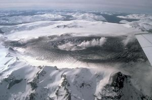 Mount Hudson, an active volcano in the SVZ, sh...