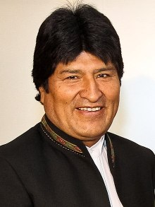 Morales in 2011, while on a visit to Caracas, Venezuela