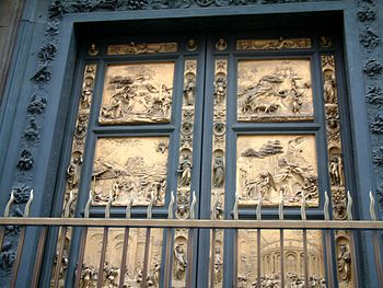 Gilt-bronze doors of the Baptistry at Florence...