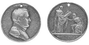 Medallion struck in honor of the