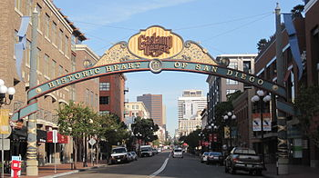 The Gaslamp Quarter of San Diego, California.