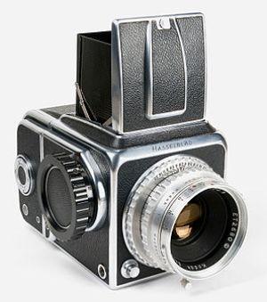 First Hasselblad camera model 1600F with Kodak...
