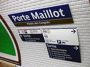 Français : Station Porte Maillot de la ligne 1...