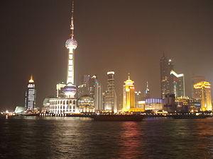 Shanghai Pudong la nuit