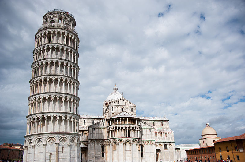 File:The Leaning Tower of Pisa -leaning towards- Pisa Cathedral (Duomo di Pisa), dome of the Camposanto (-Holy Field-), Piazza dei Miracoli (-Square of Miracles-). Pisa, Tuscany, Central Italy.jpg