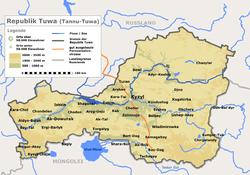 Vị trí của Tuva