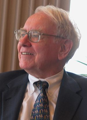 Warren Buffett speaking to a group of students...