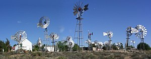 The windmill display at Loeriesfontein, in the...
